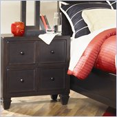 Magnussen Julian Wood 2 Drawer Nightstand in Antique Ebony