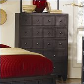 Magnussen Julian Wood 5 Drawer Chest in Antique Ebony