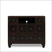 Magnussen Julian Wood Media Chest in Antique Ebony