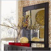 Magnussen Julian Wood Landscape Mirror in Antique Ebony