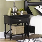 Magnussen Regan Wood 1 Drawer Open Nightstand in Black