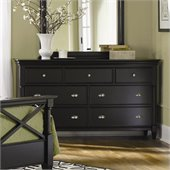 Magnussen Regan Wood 7 Drawer Dresser in Black