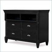 Magnussen Regan Wood Media Chest in Black