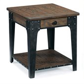 Magnussen Lakehurst Wood Rectangular End Table in Natural Oak