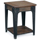 Magnussen Lakehurst Wood Square Accent Table in Natural Oak