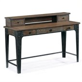 Magnussen Lakehurst Wood Sofa Table Desk in Natural Oak