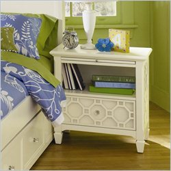 Magnussen Cameron Wood 1 Drawer Open Nightstand in Off White