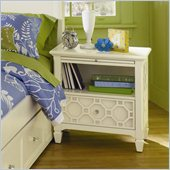 Magnussen Cameron Wood 1 Drawer Open Nightstand in White