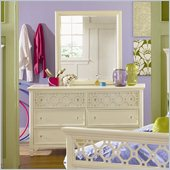 Magnussen Cameron 6 Drawer Dresser and Mirror Set in White
