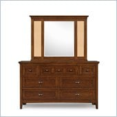 Magnussen Riley 7 Drawer Dresser and Mirror Set in Cherry