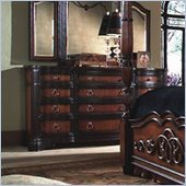 Magnussen Stafford 12 Drawer Triple Dresser in Cherry Umber