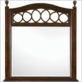 Magnussen Jeanette Shaped Mirror in Chestnut