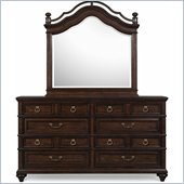Magnussen Jeanette Drawer Dresser and Mirror Set in Chestnut