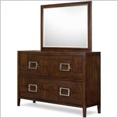 Magnussen Carleton 8 Drawer Dresser and Mirror Set in Sable