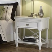 Magnussen Kasey Open Nightstand in White