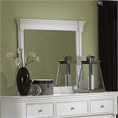 Magnussen Kasey Landscape Mirror in White