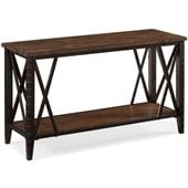 Magnussen Fleming Rectangular Sofa Table in Rustic Pine