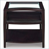 Magnussen Areva Rectangular End Table in Merlot