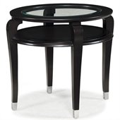 Magnussen Harper Oval End Table in Ebonized Black Cherry