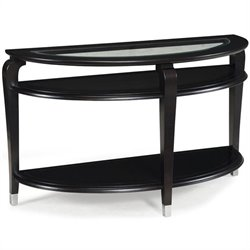 Magnussen Harper Demilune Sofa Table in Ebonized Black Cherry