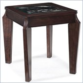 Magnussen Ombrio Rectangular End Table in Cherry