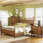 Magnussen Palm Bay Poster Bed 3 Piece Bedroom Set in Toffee