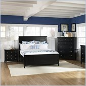Magnussen Southampton Panel Bed 3 Piece Bedroom Set in Black