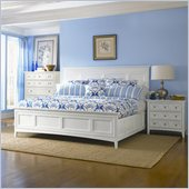 Magnussen Kentwood Panel Bed 3 Piece Bedroom Set in White