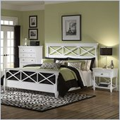 Magnussen Kasey Panel Bed 3 Piece Bedroom Set in White
