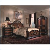 Magnussen Stafford Panel Bed 3 Piece Bedroom Set in Cherry and Umber