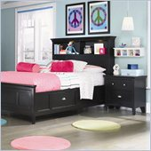 Magnussen Bennett Bookcase Bed 3 Piece Bedroom Set in Black