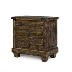 Magnussen Brenley Wood 3 Drawer Nightstand in Umber