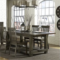Magnussen Karlin Wood Rectangular Dining Table in Grey Acacia