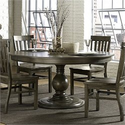 Magnussen Karlin Wood Round Dining Table with Wood Top