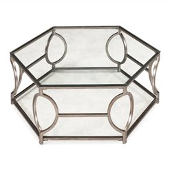 Magnussen Nevelson Cocktail Table in Antique Silver