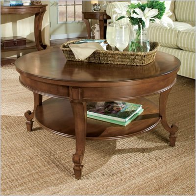 Magnussen Aidan Round Wood Cocktail / Coffee Table