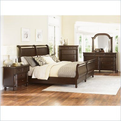 Magnussen Belcourt Sleigh Bed 4 Piece Bedroom Set in Cherry Finish