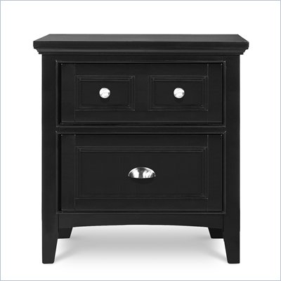 Magnussen Bennett 2 Drawer Nightstand in Black Finish