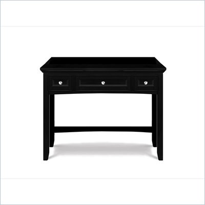 Magnussen Bennett Desk with Vanity Mirror in Black Finish