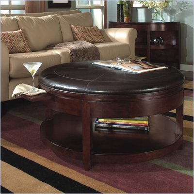 Magnussen Brunswick Round Cocktail Table and End Table Set