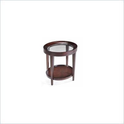 Magnussen Carson Wood Oval End Table