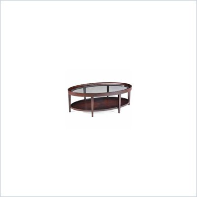 Magnussen Carson Wood Oval Cocktail Table
