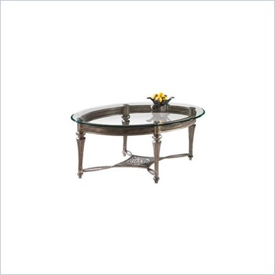 Magnussen Galloway Oval Glass Top Cocktail Table and End Table Set