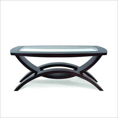 Magnussen Helix Wood Rectangular Cocktail Table