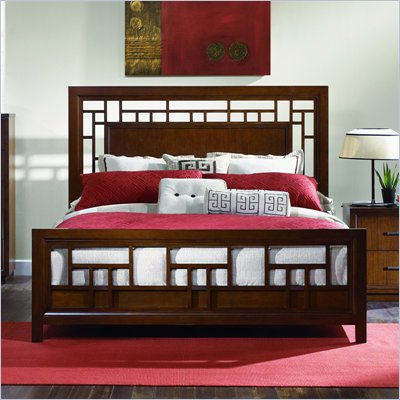 Magnussen Jaffrey Wood Lattice Bed