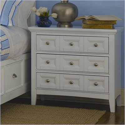 Magnussen Kentwood 3 Drawer Nightstand in Painted White Finish