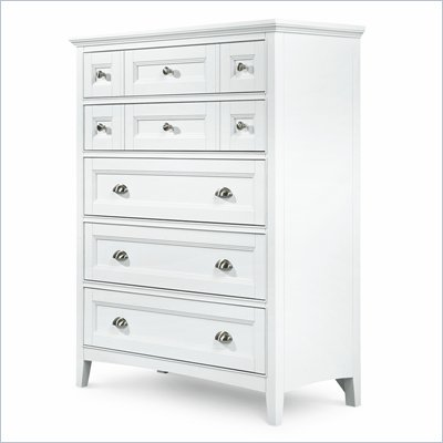 Magnussen Kentwood 5 Drawer Chest in Painted White Finish