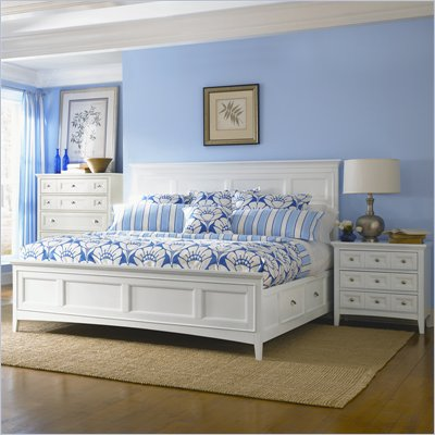 Magnussen Kentwood Storage Panel Bed 2 Piece Bedroom Set in White