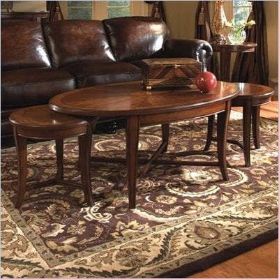 Magnussen Kingston Oval Bunching Cocktail Table and End Table Set