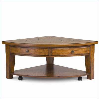 Magnussen Mackenzie Wood Pie Shaped Lift Top Cocktail Table